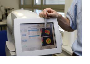 Das Display eines medizinischen Gerätes. (Foto: Frank Pieth)
