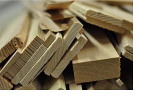 Viele Holzbalken. (Foto: Heidrun Hönninger)