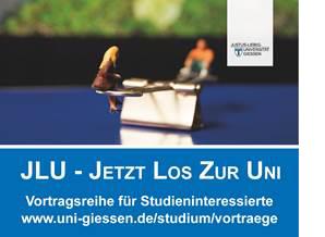 Anzeige der JLU Gießen zur Vortragsreihe.