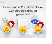 Bewerten Sie PDFelement, um Preise zu gewinnen!