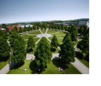 Der Campus der Uni Bayreuth von oben.