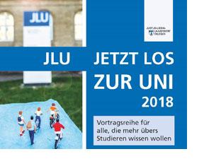 Auf blauem Hintergrund stehen die Infos zur Vortragsreihe.