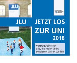 Werbetafel der JLU für die Vortrasreihe.