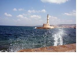 EIn Leuchtturm am Mittelmeer. (Foto: Ria Kipfmüller)